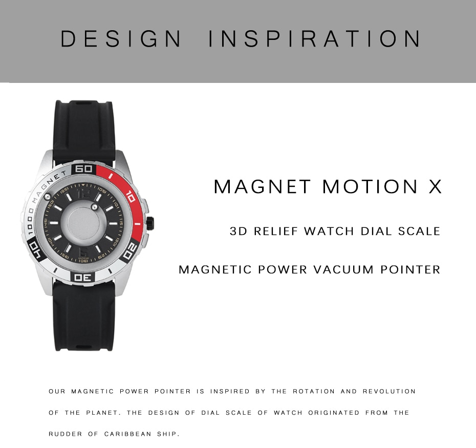 The best 4 watches with Creative ways to display time. Stylish Magnetic Metal Watch for men